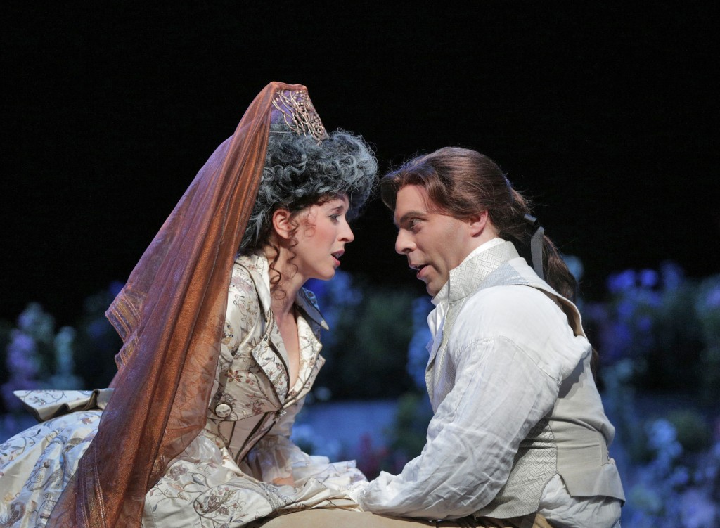 LISETTE OROPESA (SUSANNA) + ZACHARY NELSON (FIGARO).  Photo by Ken Howard