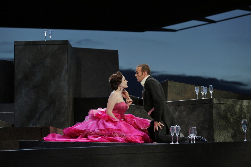 Brenda Rae (Violetta) and Michael Fabiano (Alfredo). Photo by Ken Howard.