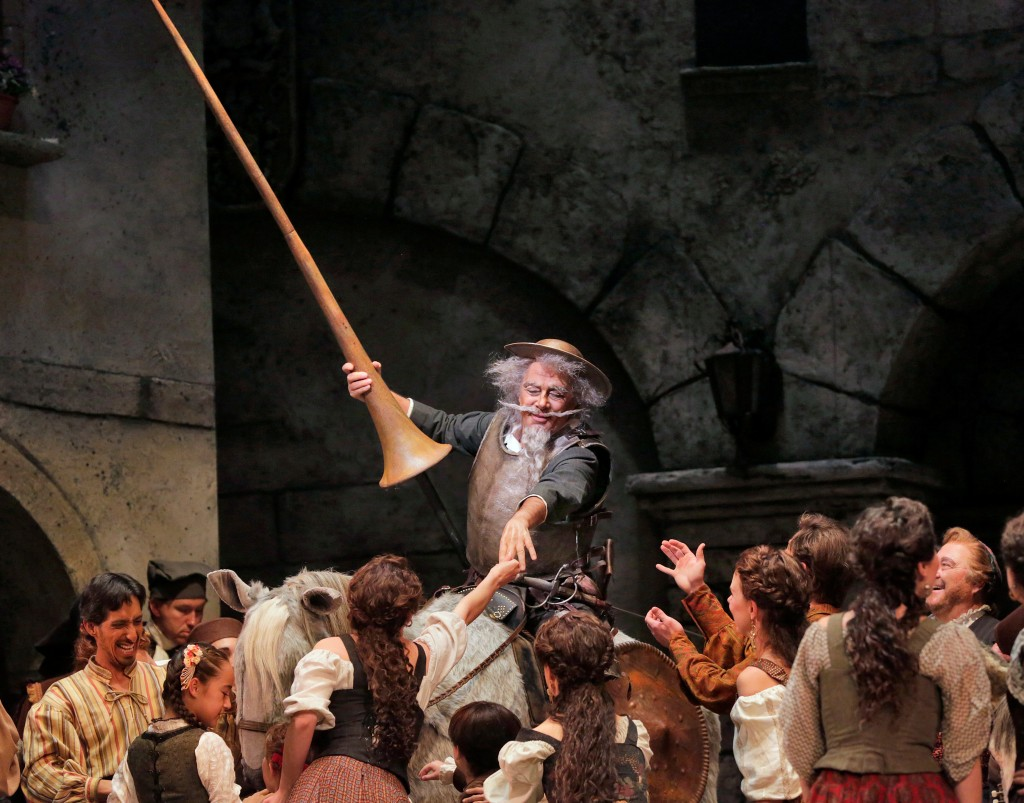 Bass Ferruccio Furlanetto is Don Quixote in San Diego Opera's DON QUIXOTE, April 2014. Photo copyright Ken Howard