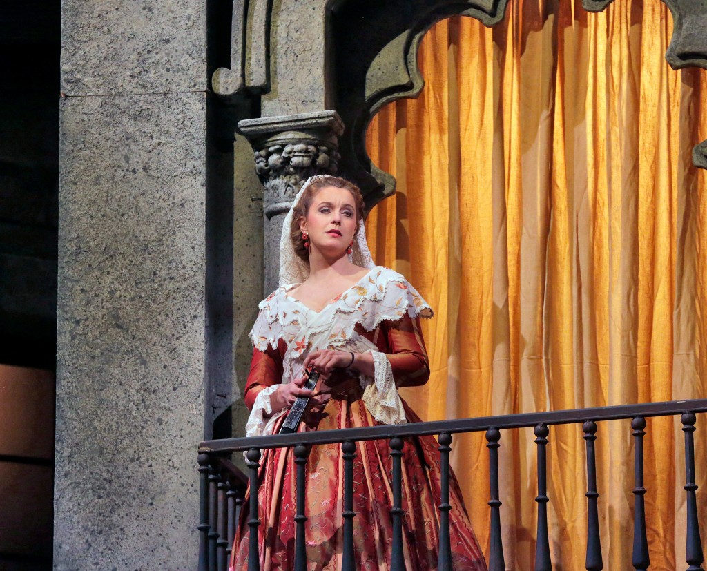 Mezzo-soprano Anke Vondung is Dulcinea in San Diego Opera's DON QUIXOTE, April 2014. Photo copyright Ken Howard.