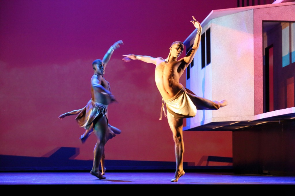 Dancers Christopher Nolen and Ricardo Zayas. (Photo: Craig T. Mathew / LA Opera)